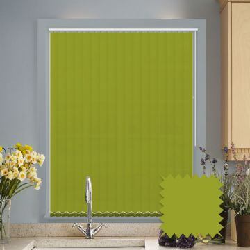 Lime Green vertical blinds - Made to Measure vertical blind in Bermuda Lime
